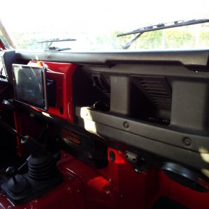 1992 LR LHD Defender 90 Red 200 Tdi A ready dash and Android GPS