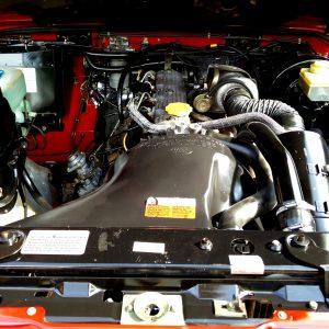 1992 LR LHD Defender 90 Red 200 Tdi engine bay
