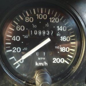 1986 LR RHD Landrover Tithonus speedo