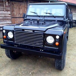 1992 LR LHD Defender 110 5dr Black 200 Tdi front