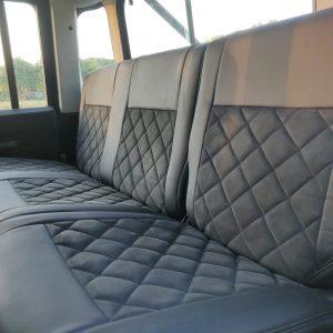 2001 LR LHD 110 Crew Cab Black A interior 2nd row seatt