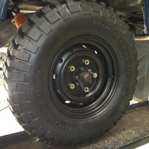 1983 LR LHD 110 ex CH Caledonian Blue WOLF rims with 255 85 16 tyres