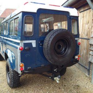 1983 LR LHD 110 ex CH Caledonian Blue rear