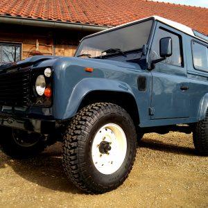 1991 LR LHD Defender 90 Tdi Arles Blue A left front low