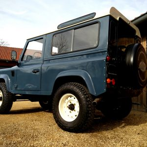 1991 LR LHD Defender 90 Tdi Arles Blue A left rear