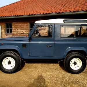 1991 LR LHD Defender 90 Tdi Arles Blue A left side