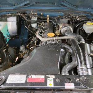 1991 LR LHD Defender 90 Tdi Arles Blue AA engine bay front