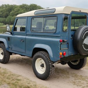 1991 LR LHD Defender 90 Tdi Arles Blue AA left rear
