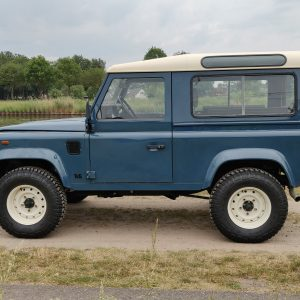 1991 LR LHD Defender 90 Tdi Arles Blue AA left side
