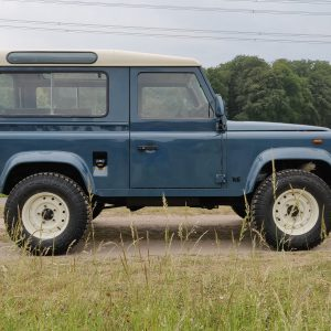 1991 LR LHD Defender 90 Tdi Arles Blue AA right side