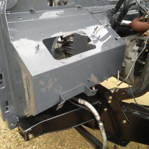 2008 LR LHD Defender 110 Tdci 5 dr building day 3 bulkhead engine side