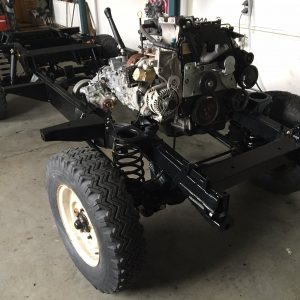 2008 LR LHD Defender 110 Tdci 5 dr building frame right front top