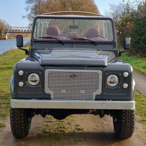 2008 LR LHD Defender 110 Tdci A Soft Top Grey front