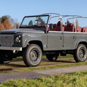 2008 LR LHD Defender 110 Tdci A Soft Top Grey left front