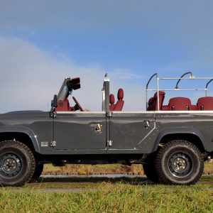 2008 LR LHD Defender 110 Tdci A Soft Top Grey left side
