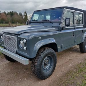 2008 LR LHD Defender 110 Tdci B Soft Top Grey closed left front