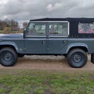 2008 LR LHD Defender 110 Tdci B Soft Top Grey closed left side