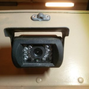 1984 LR LHD Defender 110 3.5V8 Camper rear view camera