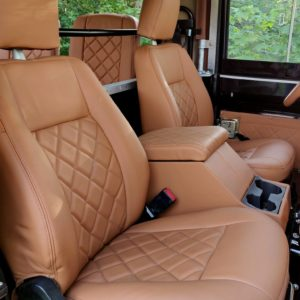 1991 LR LHD Defender 90 Tdi Black 1 Chestnut Top front seats