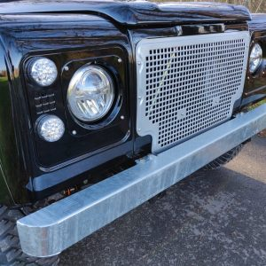 1991 LR LHD Defender 90 Tdi Black A Chestnut Top grill close