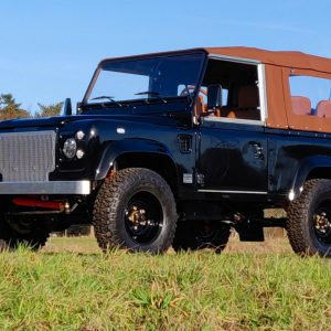 1991 LR LHD Defender 90 Tdi Black B Chestnut Top left front
