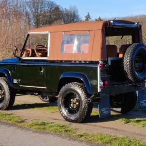 1991 LR LHD Defender 90 Tdi Black B Chestnut Top left rear