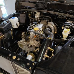 1991 LR LHD Defender 90 Tdi Black building day 21 engine bay