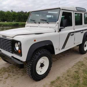 1994 LR LHD Defender 110 300 Tdi B White left front