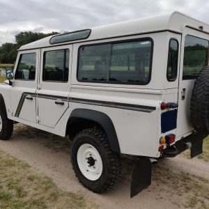 1994 LR LHD Defender 110 300 Tdi B White left rear
