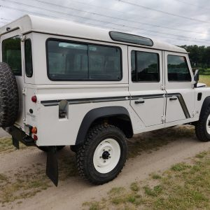 1994 LR LHD Defender 110 300 Tdi B White right rear