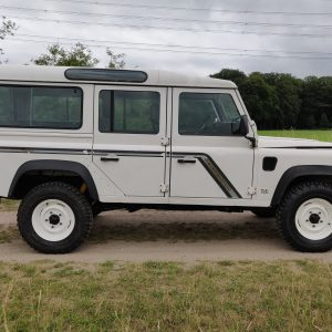 1994 LR LHD Defender 110 300 Tdi B White right side