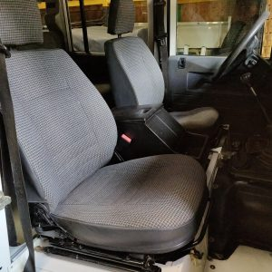 1994 LR LHD Defender 110 300 Tdi White front seats