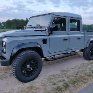 2001 LR LHD Defender 130 Nardo Grey B left front