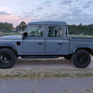 2001 LR LHD Defender 130 Nardo Grey B left side