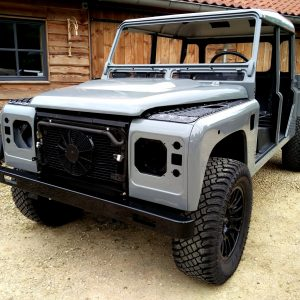 2001 LR LHD Defender 130 Nardo Grey day 1 left front