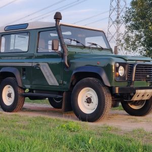 1994 LR LHD Defender 90 Conisten Green right front low