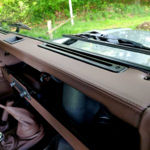 1994 LR LHD Defender 90 Nardo Grey A interior dashboard toprail