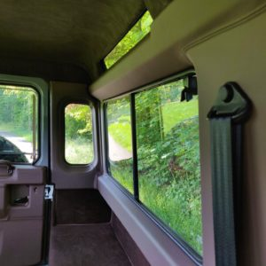 1994 LR LHD Defender 90 Nardo Grey A interior sliding window surround