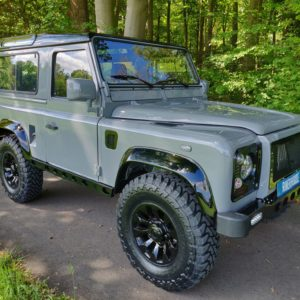 1994 LR LHD Defender 90 Nardo Grey A right front