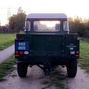 1995 LR LHD Defender 130 Conisten Green open rear
