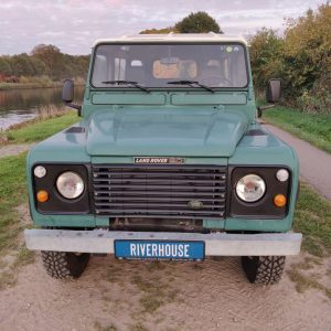 1988 LR LHD 90 SW 2.5 Td Trident Green front