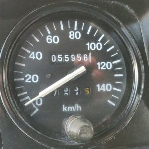 1988 LR LHD 90 SW 2.5 Td Trident Green speedo