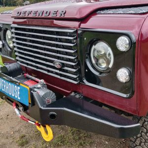 1995 LR LHD Defender 110 Montalcino Red grill close