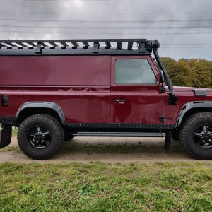 1995 LR LHD Defender 110 Montalcino Red right side
