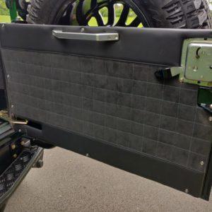 1995 LR LHD Defender 90 300 tdi Aintree AA open rear door card