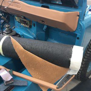 1992 LR LHD 110 Tuscan Blue 200 Tdi day 12 dash and trim