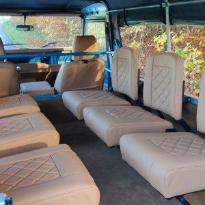 1992 LR LHD 110 Tuscan Blue 200 Tdi ready 6 jump seats from rear
