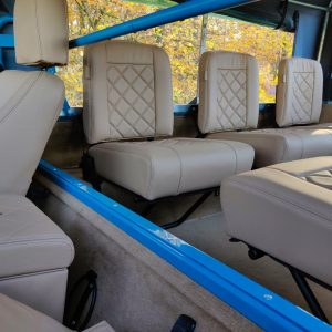 1992 LR LHD 110 Tuscan Blue 200 Tdi ready jump seats from front