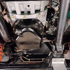 1992 LR LHD Defender 110 Tdi Riviera Blue B front suspension from underneath