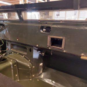 1992 LR LHD Defender 3 dr 200 Tdi Eastnor 2 bulkhead stripped